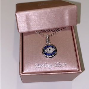 925 Sterling Silver Eye Necklace charm